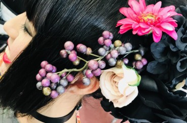 こだわるならお振袖だけでなく、髪飾りまで・・・♥