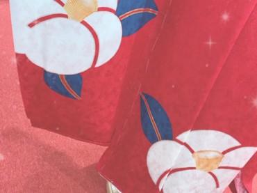 ♪鮮やかな赤×椿♪(振袖・赤・レトロ古典)