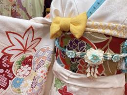 🌸🍃かわいい白地の振袖コーディネート(✿︎´ ꒳ ` )