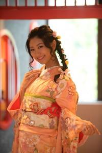 古典柄振袖 ミスユニバース 京都代表 可愛い 前撮り