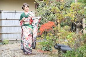 京都ロケ撮影 古典柄振袖 ユーチューブ