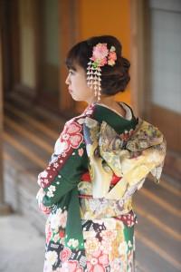 京都ロケ撮影 成人式前撮り 古典柄振袖