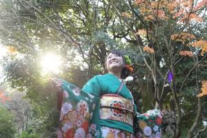 京都市国際交流会館 古典柄振袖 京都ロケ