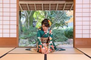 京都市国際交流会館、お辞儀、京都ロケ撮影