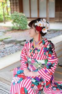 京都市国際交流会館、ヘアブーケ、レトロ振袖