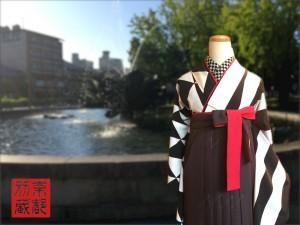 レトロ柄振袖 袴レンタル ショコラ袴 卒業式