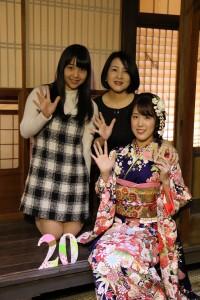 キモノハーツ 京都町家ロケ 古典柄振袖 家族写真